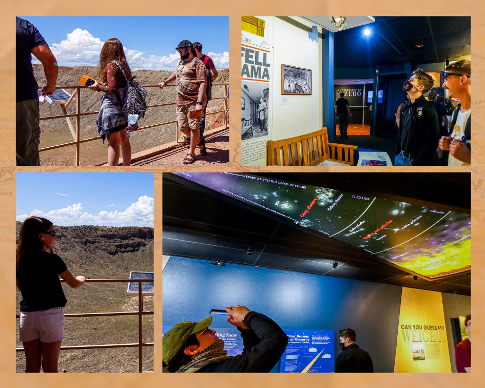 Students visiting the Meteor Crater and Space Museum.