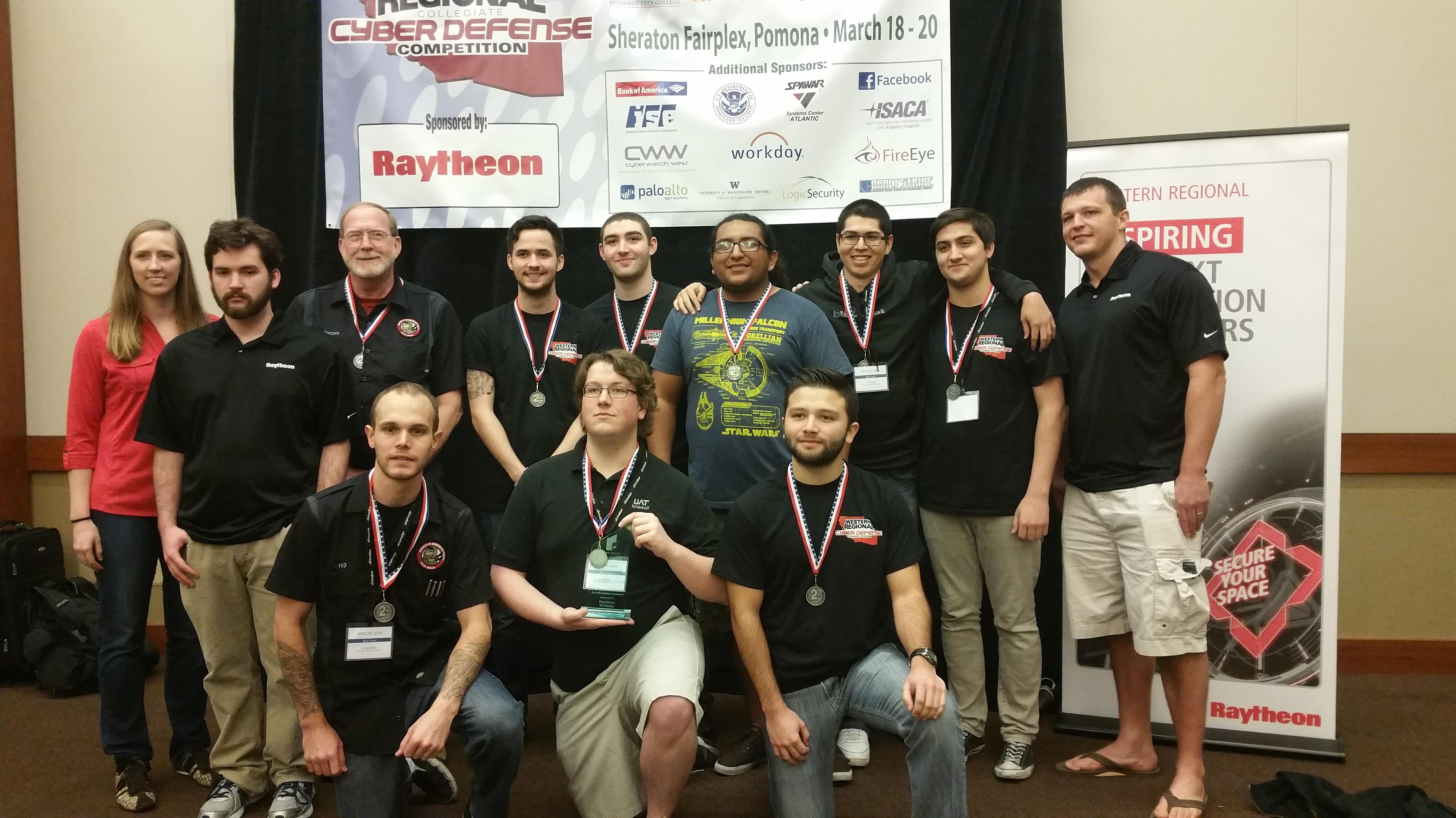 Cyber Security students at WRCCDC - Take 2nd Place