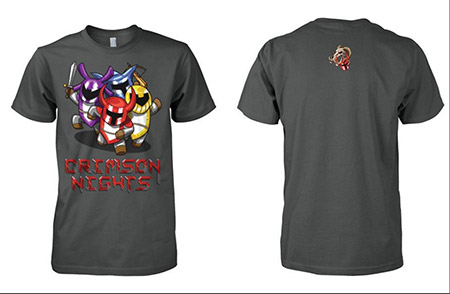 Crimson Nights Game - T-shirts