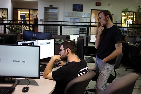 Project Oddity Development Team working in UAT Game Studios